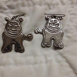 sterling doggie earrings